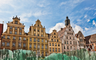 Wroclaw, fountain at the town square